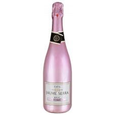 "Вино игристое ""Кава Жауме Серра Брют Розе"" розовое брют 11,5% 0,75"