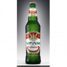 """Пиво """"Зедазени"""" свет. фильтр. пастер. 0,5л кр.5%"""