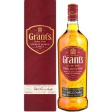 """Виски """"Грантс Трипл Вуд"""" 3 года выдержки 40% 0.7"""