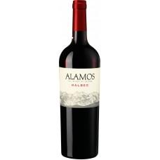 Вино Аламос Мальбек красное сухое 0,75л кр.12,5%