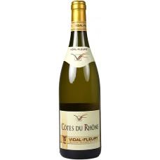 """Вино Видаль-Флери """"Кот дю Рон"""" белое сухое 0,75л кр.13,5%"""